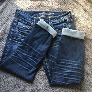 American Eagle jeans (ripped,tomgirl)